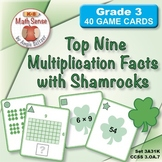 FREE Top Nine Multiplication Facts with Shamrocks: Math Ma