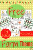 FREE Tot School & Preschool Printables Farm Theme