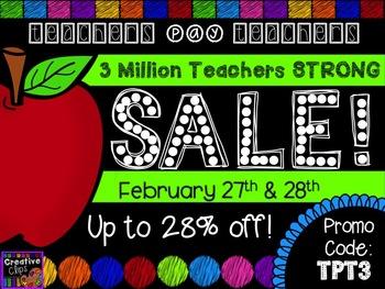 {FREE} TpT 3 Million Strong Sale Button {Creative Clips Di