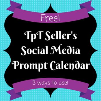 FREE TpT Seller Social Media Prompts Calendar