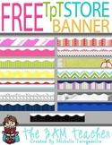 FREE TpT Store Banner Backgrounds by The 3AM Teacher