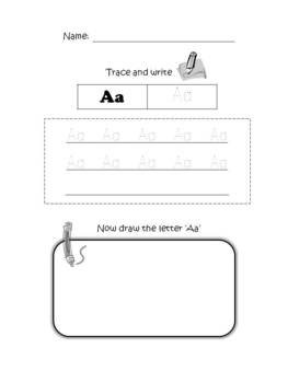 FREE Trace, Write and Draw Alphabets A-Z