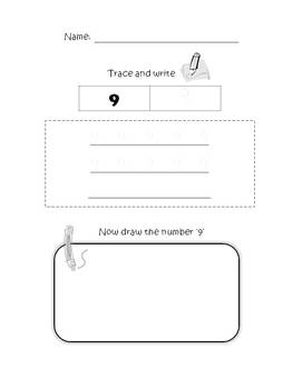 FREE Trace, Write and Draw Numbers 0-9