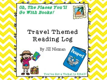 FREE Reading Log- Travel Theme