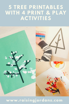 FREE Tree Printables with Print & Play Art Activities