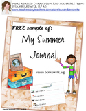 FREE Trial of My Summer Journal Writing Activity Special Ed or Speech Therapy