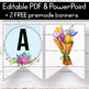 FREE Tropical Banner for the Classroom - Floral Shiplap Classroom Decor