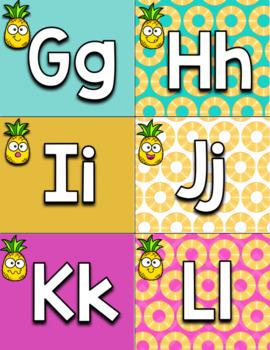 FREE Tropical Pineapple Decor Word Wall Headers