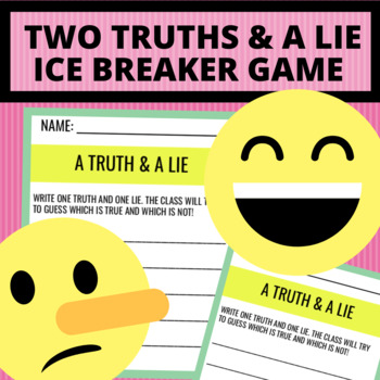 FREE Truth & Lie First Day of School Icebreaker