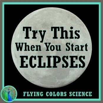STARTER:  Try This When Starting Moon Phases Eclipses NGSS MS-ESS1-1 MS-ESS1-2