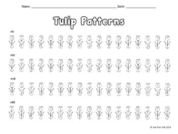FREE Tulip Pattern Page