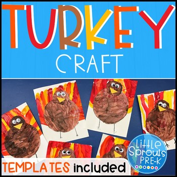 FREE Turkey Craft - Turkey Painting Activity PreK, Kinder, Preschool