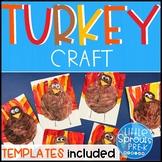 FREE Turkey Craft - Turkey Painting Activity PreK, Kinder,