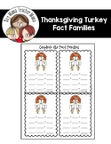FREE Thanksgiving Turkey Fact Families Practice Sheet