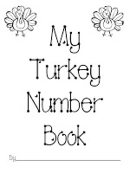 FREE Turkey Number Book