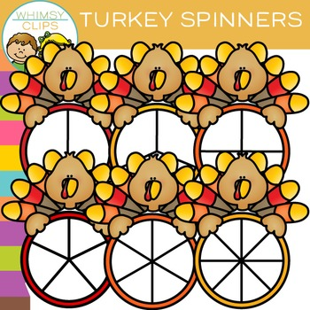 Free Spinners with a Turkey Clip Art