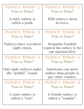 photo about Thanksgiving Trivia Printable called Free of charge Turkey Trivia Scoot