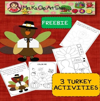 FREE Turkey activity worksheets