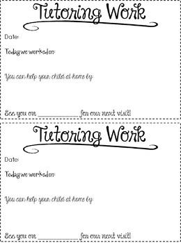 FREE!  Tutoring Forms