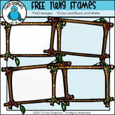FREE Twig Frames Clip Art Set - Chirp Graphics