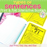 FREE Types of Sentences Interactive Notebook - Types of Se