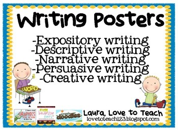 FREE Types of Writing Posters by Laura Love to Teach | Teachers ...