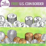 FREE U.S. Coin Border Clip Art for Teens and Adults