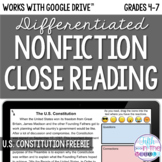 FREE U.S. Constitution Day Close Reading Comprehension -On