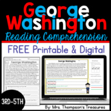 George Washington Finding Text Evidence Reading Comprehension Passage