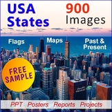 "FREE - U.S. States | State Report | State Research Project | ""Silhouettes"""