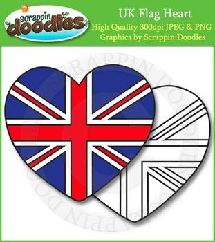FREE UK Flag Heart