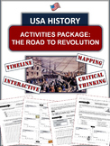 American Revolution: The Road to War - 6 Well-Designed Pages of Learning!