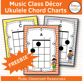 Free Ukulele Chord Charts By Jooya Teaching Resources Tpt