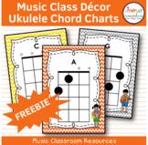 Music Class Decor - Ukulele Chord Charts