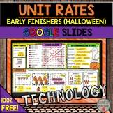 FREE Unit Rates Early Finishers (Halloween Edition) DISTANCE LEARNING