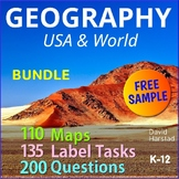 FREE - United Kingdom Geography Map