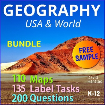 FREE - United States Map by The Harstad Collection   TpT