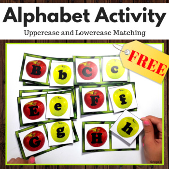 FREE Upper Case and Lower Case Letters Matching Activity - Apples