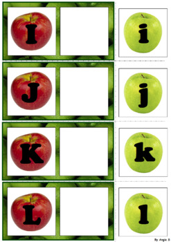 FREE Letter Matching Uppercase and Lowercase - Apples