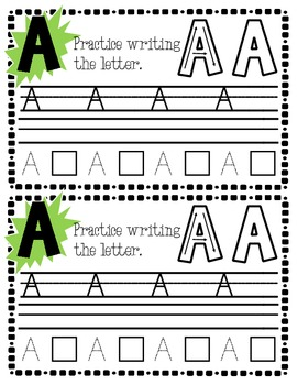 FREE Uppercase Letter Writing Practice Sample