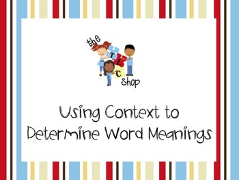 FREE! Using Context to Determine Word Meanings