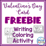 Freebie: Valentine Literacy Activity- Writing Card and Col