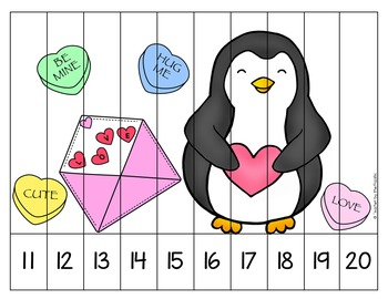 FREE VALENTINE Math Number Puzzles