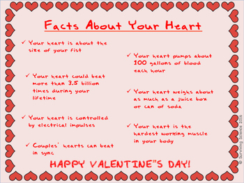 FREE VALENTINE'S POSTER: Facts About Your Heart