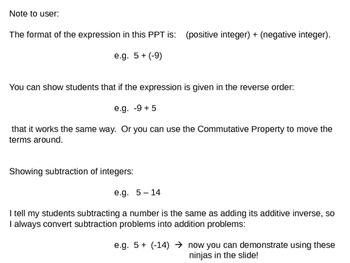 FREE VERSION - Additive Inverse & Zero Pair Ninjas for teaching Integers