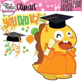 FREE VIPKID Graduation Dino Clipart