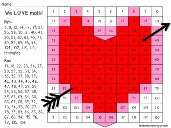 FREE Valentine 120 Grid Hidden Picture