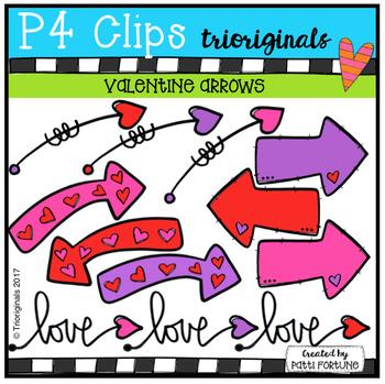 FREE Valentine Arrows (P4 Clips Trioriginals Clip Art)