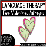 FREE Valentine Broken Heart Opposites for Speech Therapy V