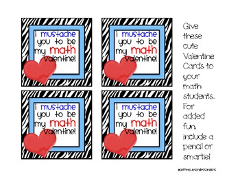 FREE Valentine Cards With Math Sayings
